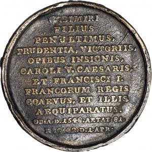 Medal Suity Królewskiej autorstwa J.J. Reichela, Zygmunt I Stary, odlew w brązie z huty Białogon