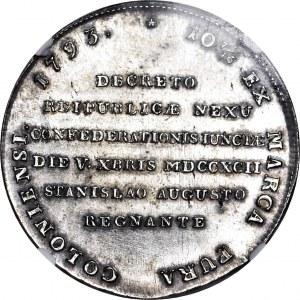 RR-, Stanisław A. Poniatowski, Talar 1793 Targowicki, R5, PIĘKNY