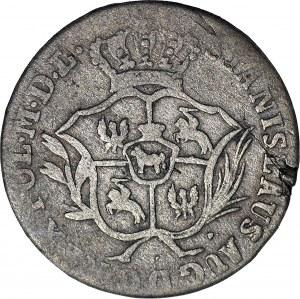 R-, Stanisław A. Poniatowski, Półzłotek 1773/2 AP (u Kopickiego jako rocznik 1775 rzadkość R8)