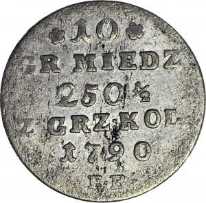 Stanisław A. Poniatowski, 10 groszy miedziane 1790, piękne