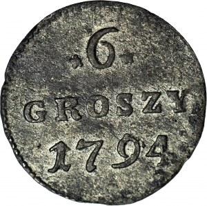 Stanisław A. Poniatowski, 6 groszy 1794