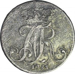 RR-, Pomorze, Adolf Fryderyk, 8 dobrych groszy (1/3 talara) 1758, Strzałów