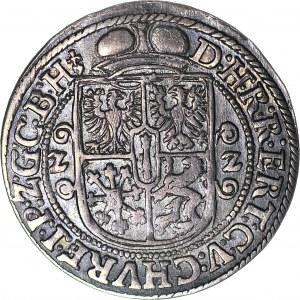 R-, Lenne Prusy Książęce, Jerzy Wilhelm, Ort 1622, Królewiec, hełm paradny przed postacią