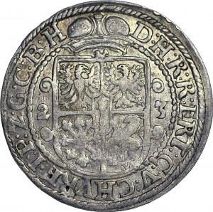 Lenne Prusy Książęce, Jerzy Wilhelm, Ort 1623, Królewiec, w płaszczu