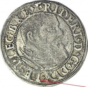 RR-, Śląsk, Fryderyk II Legnicki, Grosz 1544, Legnica, z błędem LESI zamiast SLESI