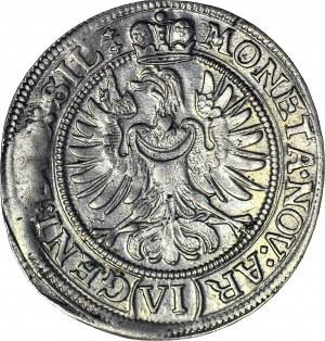 Śląsk, Księstwo Legnicko-Brzesko-Wołowskie, Ludwika, 6 krajcarów 1673, Brzeg, R4-
