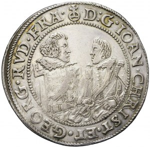 R-, Śląsk, Jan Krystian i Jerzy Rudolf, Talar 1609, Złoty Stok