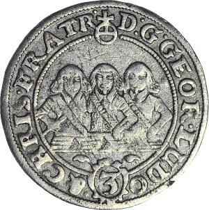 RR-, Śląsk, 3 krajcary 1656, Trzech braci, Brzeg