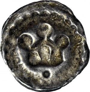 Inflanty, Rewal (obecnie Tallin), Brakteat XIII/XIV w, Korona z kropką