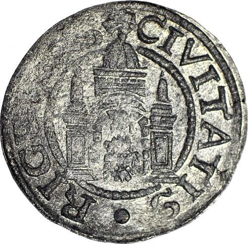 R-, Wolne Miasto Ryga, Szeląg ryski 1571, połyskowy