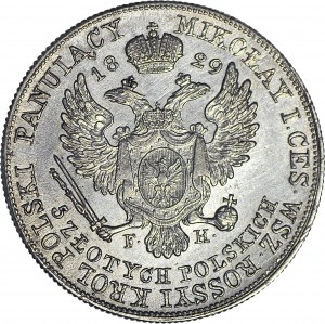 R-, Królestwo Polskie, Aleksander I, 5 złotych 1829 FH, piękne