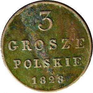 Królestwo Polskie, 3 grosze 1828 FH, Warszawa