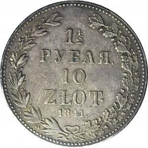 R-, Zabór Rosyjski, 10 złotych = 1 1/2 rubla 1841, Warszawa, rzadki rocznik