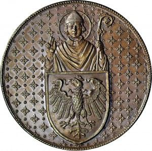 RRR, Medal 1887, otwarcia Collegium Novum w Krakowie, sygnowany, brąz 41,5mm