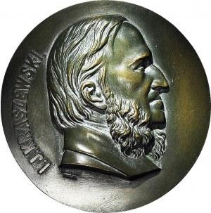 RR-, Plakieta, Józef Ignacy Kraszewski, Warszawa, bracia ŁOPIEŃSCY, brąz 125mm