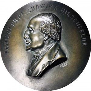 RR-, Plakieta, prof. Ludwik Hirschfeld, Warszawa, bracia ŁOPIEŃSCY, brąz 129 mm