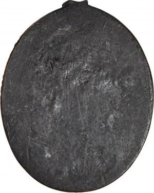 Plakieta, Jan Zamoyski, wzór MINTER po 1850 roku, owalny 60x70mm
