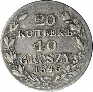 RR-, Zabór Rosyjski, 40 groszy = 20 kopiejek 1845 MW