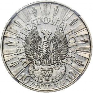 RR-, PRÓBA, 10 złotych 1934, Piłsudski, Warszawa