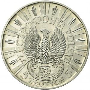 RR-, PRÓBA, 5 złotych 1934, Piłsudski, piękna