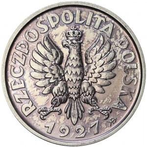 RR-, PRÓBA, 2 złote 1927, Warszawa, piękne
