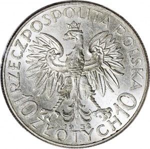 10 złotych 1932 zm. (Warszawa), Głowa, WYŚMIENITE