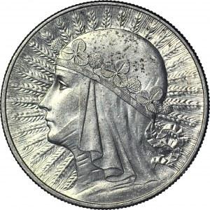 10 złotych 1933, Głowa, mennicza