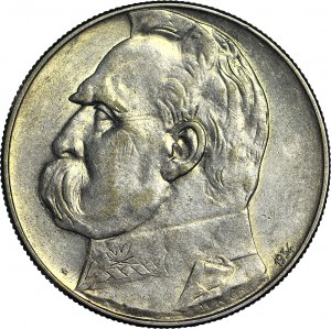 10 złotych 1934, Piłsudski, orzeł STRZELECKI, ok. menniczy