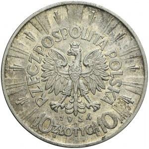 10 złotych 1934, Piłsudski, orzeł URZĘDOWY, bardzo ładny