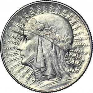 5 złotych 1933, Głowa, mennicza