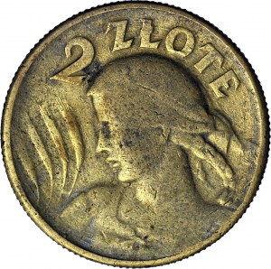 2 złote 1925, fałszerstwo z epoki, mosiądz