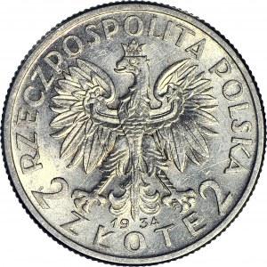 2 złote 1934, Głowa, mennicza