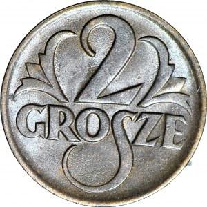 2 grosze 1925, mennicze, kolor brązowy