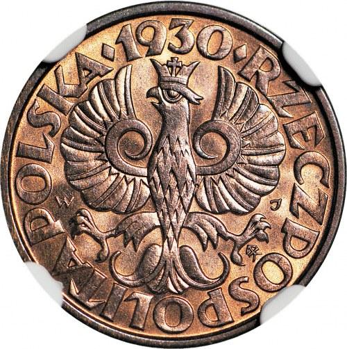 2 grosze 1930, mennicze, kolor RB