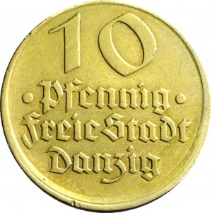 RRR-, WMG, 10 fenigów 1932, Dorsz, MINT ERROR, DESTRUKT, przesunięcie bicia