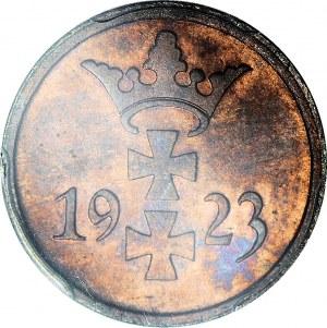 R-, Wolne Miasto Gdańsk, 1 fenig 1923, LUSTRZANY