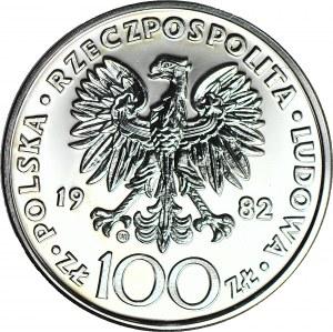 100 złotych 1982, Jan Paweł, stempel zwykły