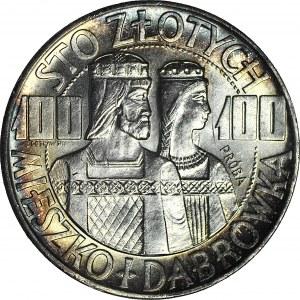 100 złotych 1966, Mieszko i Dąbrówka, PRÓBA Ag