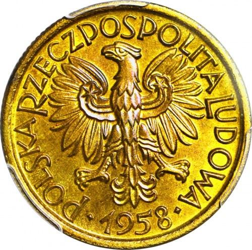 RR-, 2 złote 1958 Jagody, PRÓBA, MOSIĄDZ, nakład 100szt., rzadkość, c.a.