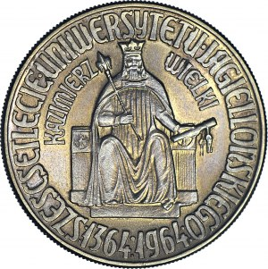 R-, 10 złotych 1964 Kazimierz Wielki bez napisu PRÓBA, nakład 1000szt.