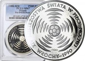 200 złotych 1987, PRÓBA NIKIEL, Mistrzostwa świata w piłce nożnej, Włochy 90