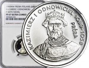 2000 złotych 1980, PRÓBA dla złota NIKIEL, K. Odnowiciel