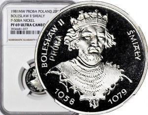 2000 złotych 1981, PRÓBA dla złota NIKIEL, Bolesław Śmiały