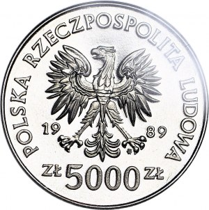 5000 złotych 1989, PRÓBA NIKIEL, Westerplatte