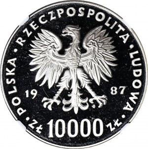 10.000 złotych 1987, PRÓBA NIKIEL, Jan Paweł II
