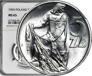 5 złotych 1959, Rybak, menniczy