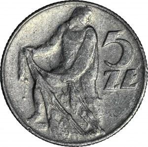 R-, 5 złotych 1959 Rybak, fałszerstwo z epoki w aluminium
