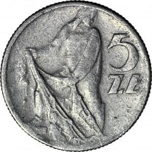 R-, 5 złotych 1960 Rybak, fałszerstwo z epoki w aluminium