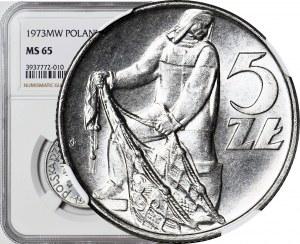 5 złotych 1973, Rybak, menniczy