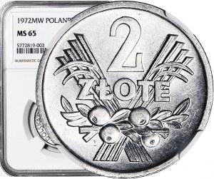 2 złote 1972, Jagody, mennicze